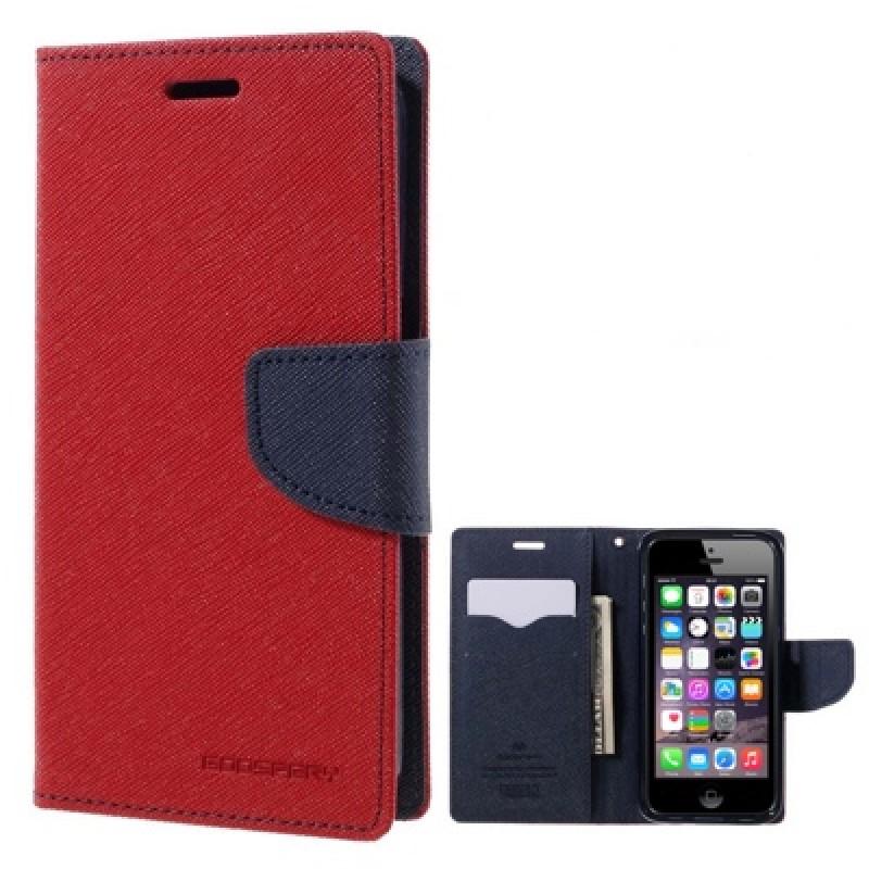 Atverčiamas raudonas dėklas (Iphone 5/5s/Se)