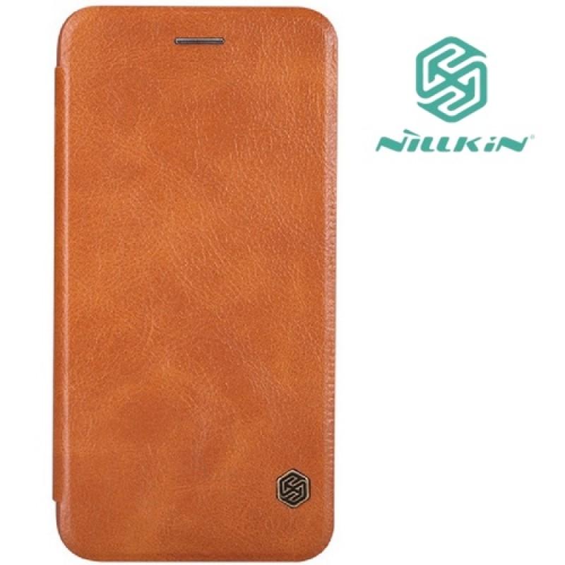 """Iphone 5/5s/Se dėklas rudas """"Nillkin"""" Qin"""