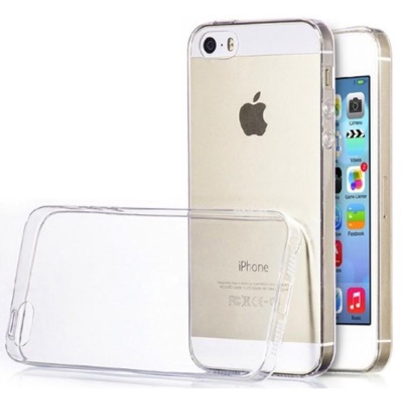 Plonas silikoninis dėklas - skaidrus (Iphone 5/5s/Se)