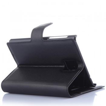 Dirbtinos odos atverčiamas dėklas juodas (PASSPORT)