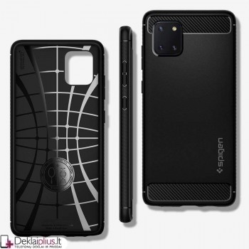 Originalus Spigen rugged armor dėklas - juodas (GALAXY NOTE 10 LITE)