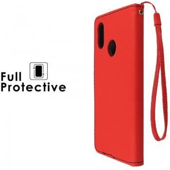 Raudonas atverčiamas dėklas (MI8)